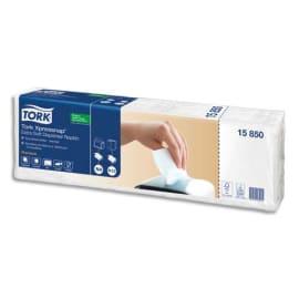 TORK Colis 5 paquets de 200 Serviettes enchevêtrées Blanches 2 plis 21,6x16,6cm pour distrib Xpressnap N4 photo du produit