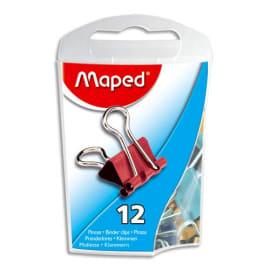 MAPED Boîte de 12 pinces clip largeur 15mm coloris assortis photo du produit