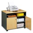 SIMMOB Meuble photocopieur 2 portes + tablette et niche coloris hêtre anthracite photo du produit
