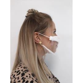 Masque inclusif transparent UNS1 garanti lavable 20 fois 2 couches PE 85g/m² et PET photo du produit