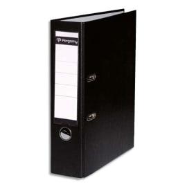 PERGAMY Classeur à levier en polypropylène extérieur/intérieur papier. Dos 8cm. Coloris Noir photo du produit