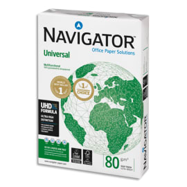 SOPORCEL Lot de 3 ramettes 500 feuilles papier extra Blanc Navigator Universal A4 80G CIE 169 photo du produit