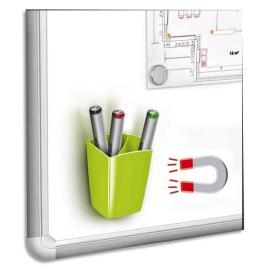 CEP Pot à crayons et feutres, magnétique, 2 compartiments, coloris Vert. Dim L7,8 x H9,5 x P7,4 cm photo du produit