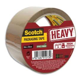 SCOTCH Adhésif d'emballage Heavy en polypropylène 57 microns - H50 mm x L50 mètres Havane BP977 photo du produit