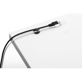 DURABLE Pack de 6 clips adhésifs pour câble CAVOLINE® CLIP 2 Graphite 5038-37 photo du produit