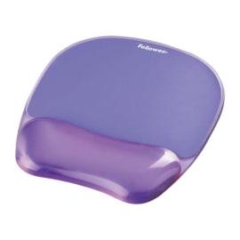 FELLOWES Tapis souris repose-poignet gel crystal Violet 91441 photo du produit