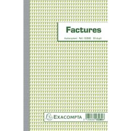 EXACOMPTA Manifold Factures 21x13,5cm - 50 feuillets dupli auocopiants photo du produit