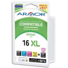 ARMOR Pack 5 compatibles EPSON t1636 b10248r1 photo du produit