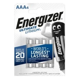 ENERGIZER Blister de 4 piles LITHIUM AAA LR03 Ultimate lithium 7638900273267 photo du produit