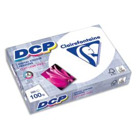 CLAIREFONTAINE Ramette de 500 feuilles papier Blanc DCP copieur, Laser, Jet d'encre couleur 100 gr A4 photo du produit