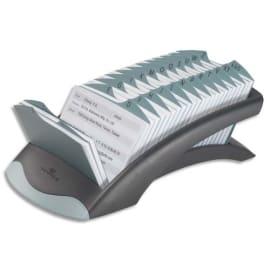 DURABLE Fichier linéaire Telindex Desk en ABS - répertoire A-Z + 500 fiches - L245 x H67 x P131 mm - Noir photo du produit