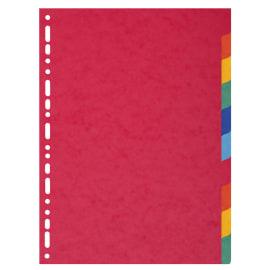EXACOMPTA Intercalaire 10 positions en carte lustrée 3/10ème 225g, format A4 photo du produit