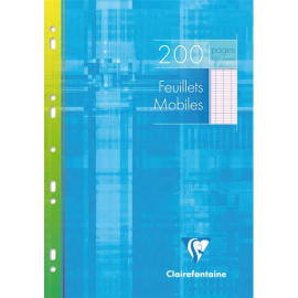 CLAIREFONTAINE Copies simples format 21x29,7cm 200 pages grands carreaux Séyès Blanc 90g sous étui carton photo du produit