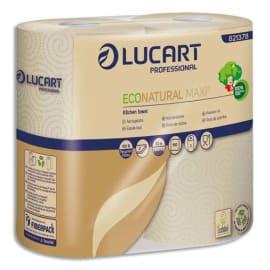 LUCART Colis de 24 Essuie-tout EcoNatural Maxi3 Havane, 2 plis, 150 formats, L33 mètres photo du produit