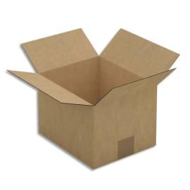 Paquet de 25 caisses américaines simple cannelure en kraft brun - Dimensions : 23 x 16 x 19 cm photo du produit