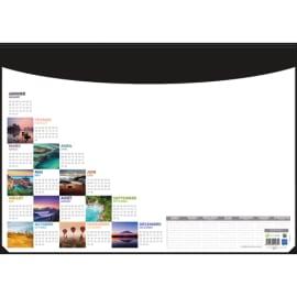 CBG Socle sous-mains en pvc noir avec recharge mosaique perpétuel - format : 40,5 x 55 cm photo du produit