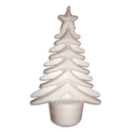 20 arbres de Noël originaux à décorer en styropor de 14x9cm. Un socle permet de le faire tenir debout. photo du produit