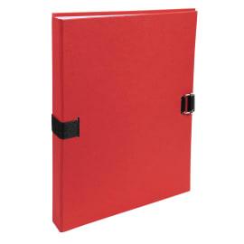 EXACOMPTA Chemise extensible fibres papier 100% recyclées coloris Rouge photo du produit