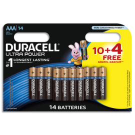 DURACELL Lot de 10+4 gratuite ultra power AAA 5000394119611 photo du produit