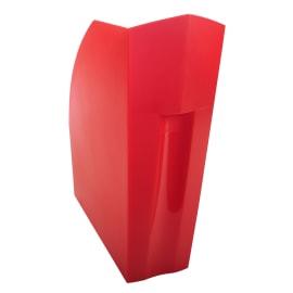 EXACOMPTA Porte-revues Iderama Rouge carmin translucide - Dos 11 cm, H32 x P29,2 cm photo du produit