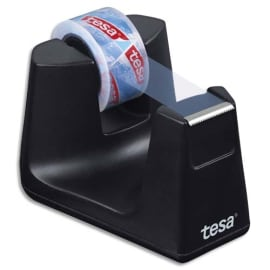 TESA Dévidoir Easy Cut SMART Noir + 1 rouleau eco & clear 10 m x 15 mm photo du produit