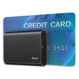 PNY Disque SSD USB3.1 240Go Noir PSD1CS1050-240-FFS photo du produit