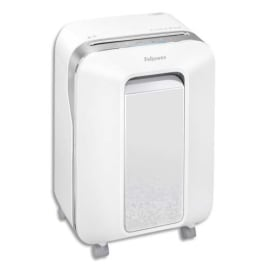 FELLOWES Destructeur micropart LX-Series LX201 Blanc sécurité P-5, détruit 12F, corbeille 22L 5050101 photo du produit