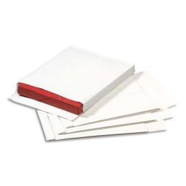 GPV Boîte de 250 pochettes 130g kraft armé Blanc auto-adhésif, format 24 260x330 mm, soufflet 30mm photo du produit