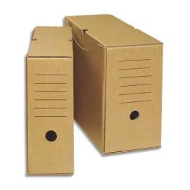 Boîte archives écologique dos 20 cm. Montage manuel. Carton brun. photo du produit