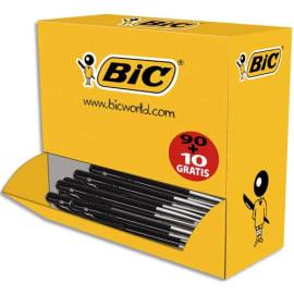 BIC Pack 90 stylos bille M10 Noir + 10 offerts. Pointe moyenne. photo du produit