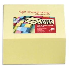 PERGAMY Bloc cube de 320 feuilles repositionnables dimensions 7,6x7,6cm. Coloris Jaune photo du produit