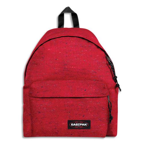 EASTPAK Sac à dos PADDED PAK 24 litres NEP SAILOR. Un compartiment. Coloris rouge, motif à pois. photo du produit Principale L