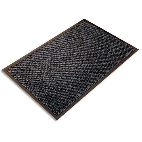 FLOORTEX Tapis d'accueil Ultimat Gris vinyle, nylon et fibres renforcées 90 x 150 cm épaisseur 9 mm photo du produit Principale L