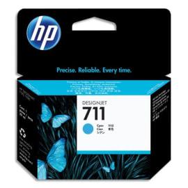 HP Cartouche Jet d'encre Cyan 711 CZ130A photo du produit