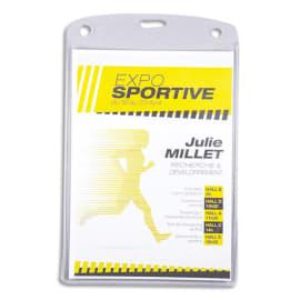 AVERY Boîte de 50 porte-badges grand format 105 x 148 mm + 52 inserts imprimables photo du produit