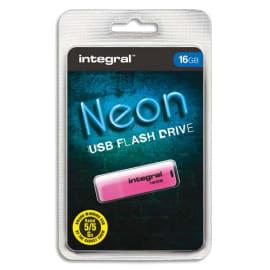 INTEGRAL Clé USB 2.0 NEON 16Go Rose INFD16GBNEONPK photo du produit