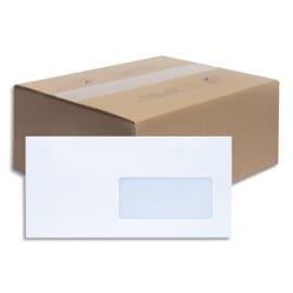 BONG Boîte de 500 enveloppes NF DL 110x220mm fenetre 45x100mm vélin Blanc 80g auto-adhésive 1198 photo du produit