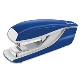 LEITZ Agrafeuse socle flat clinch Bleue, capacité 40 feuilles pour agrafes 24/6 et 26/6 photo du produit