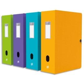OXFORD Boîte de classement MEMPHIS en polypropylène 7/10e. Dos 10 cm. Coloris assortis Style photo du produit