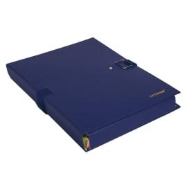 EXACOMPTA Chemise extensible Extensor, grand rabat en pied, balacolor Bleu finition imitation cuir photo du produit