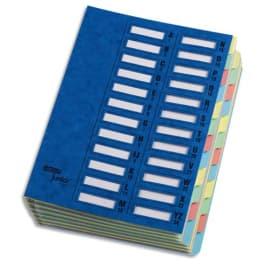 EMEY Trieur EMEY JUNIOR en carte, 24 compartiments. Coloris Bleu. photo du produit