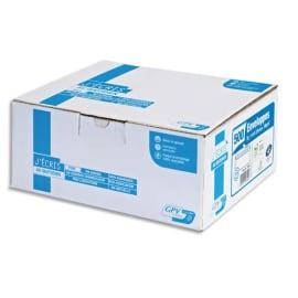 GPV Boîte de 500 enveloppes DL 110x220mm Blanches auto-adhésives NF PFEC 90g photo du produit