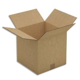 Paquet de 10 caisses américaines en carton brun double cannelure - Dim. : L50 x H50 x P50 cm photo du produit
