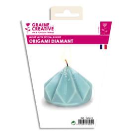 GRAINE CREATIVE Moule en latex 80x70 mm forme Origami diamant pour fabriquer des bougies photo du produit