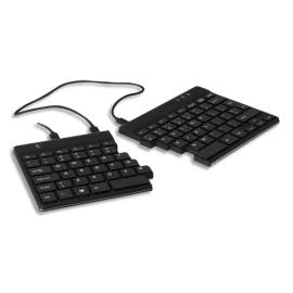 R-GO TOOLS Clavier ergonomique Split, AZERTY (FR), Noir, filaire RGOSP-FRWIBL photo du produit