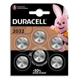 DURACELL Blister de 6 piles 2032 lithium pour appareils électroniques 5000394056183 photo du produit