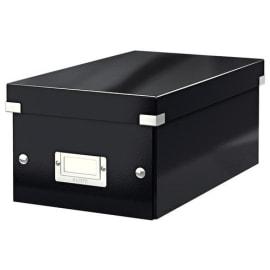 LEITZ Boîte de rangement DVD Click&Store Office Noir - contenance de 30 boîtes standard ou 60 slim photo du produit