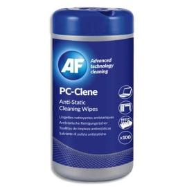 AF Boîte distributrice de 100 lingettes pré-imprégnées multi-surfaces antistatiques/sans alcool APCC100 photo du produit