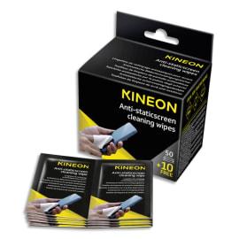KINEON Boîte de 60 lingettes écrans antistatiques (50 unités + 10 offertes) AMCA60KIN photo du produit