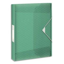 ESSELTE Boîte de classement Colour Ice dos de 2,5 cm, en polypropylène 7/10ème. Coloris Vert photo du produit